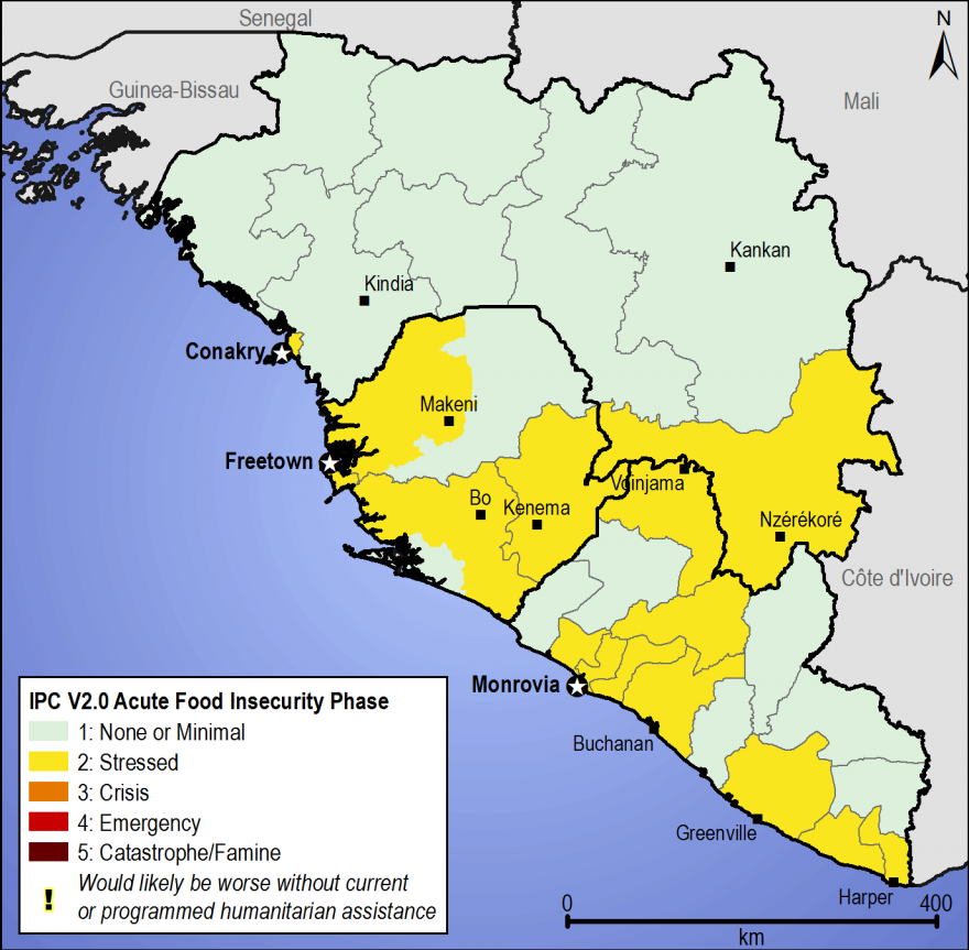 Figure 1. Most likely estimated food security outcomes, December 2014