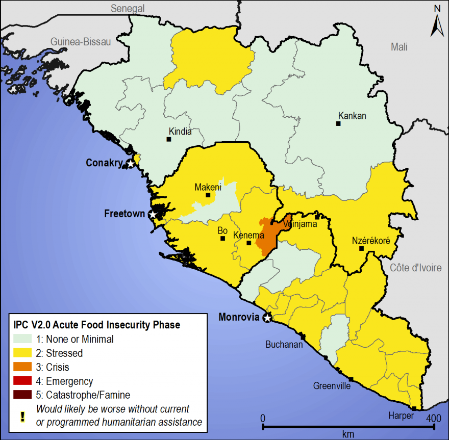 Figure 2. Most likely estimated food security outcomes, January to March 2015