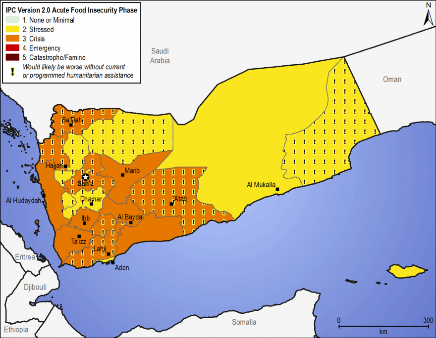 FEWS NET most likely food security outcomes, April through June 2015