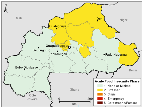 Current food security outcomes, April 2012