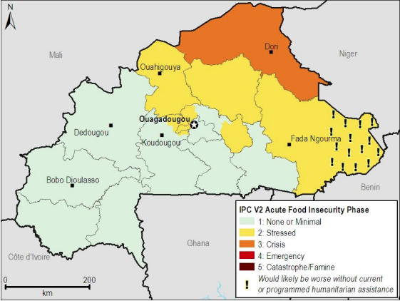 Current food security outcomes, July 2012