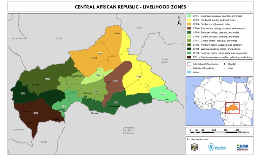 Central African Republic Livelihood Zones