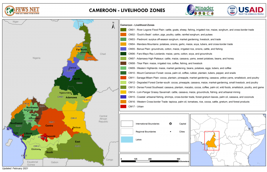 Cameroon Livelihood Zone Map