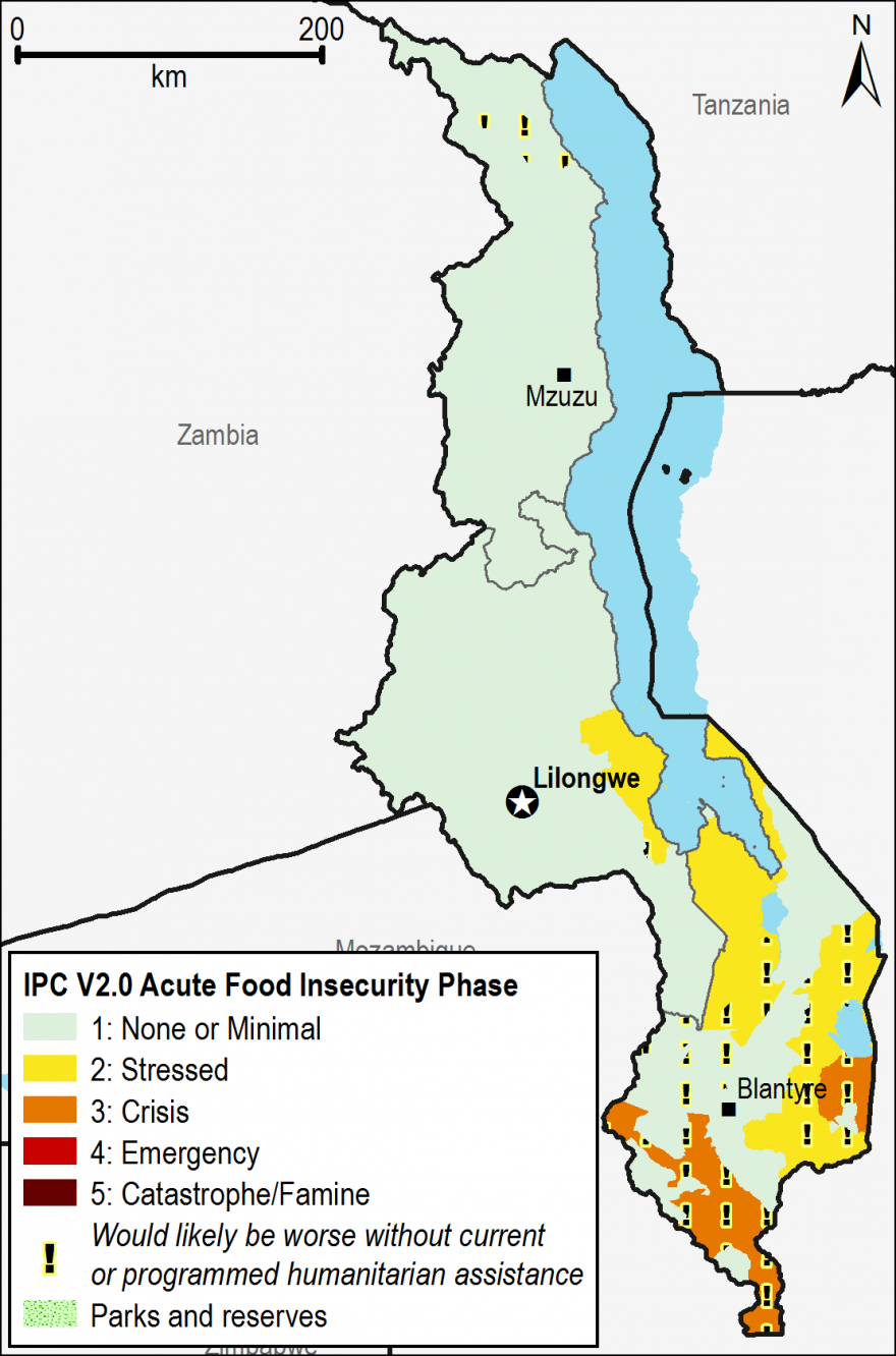 Current acute food security outcomes, January 2015.