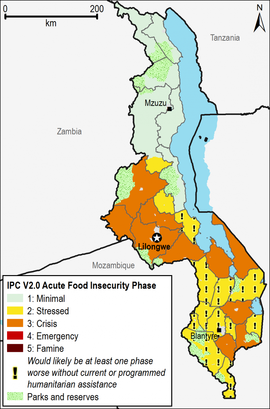 Current acute food security outcomes, October 2016.