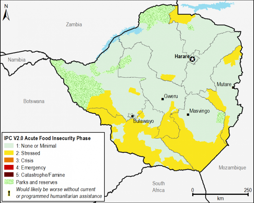 Current acute food security outcomes, July 2015.
