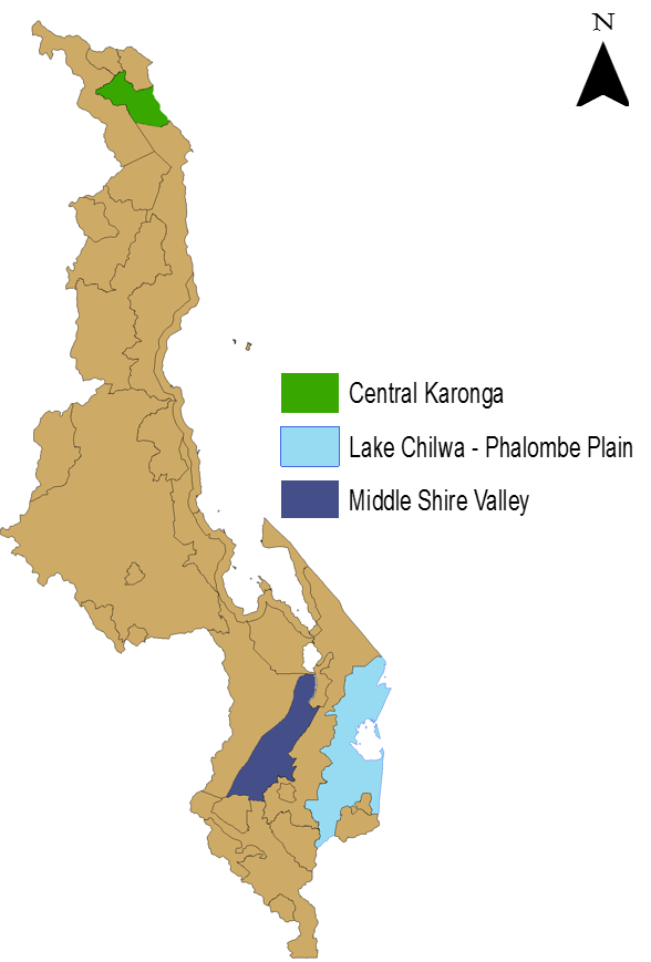 Figure 1.  Three affected livelihood zones.