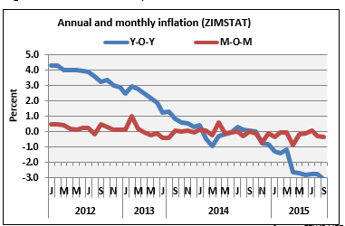 Figure 1. Annual and monthly inflation
