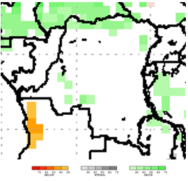 Map of Seasonal Forecasts: October to December 2018, Potential for more than usual rainfall in the north and southwest