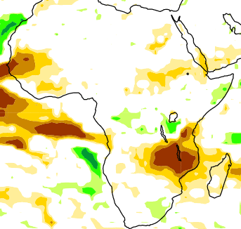 Figure 3. Probability of the most likely rainfall range, July through September 2015
