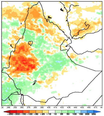 Precipitation anomaly for June 1 to July 28, 2012 in millimeters (mm)