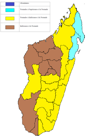 Rainfall forecasts for January to March 2016