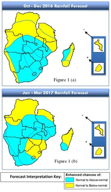 Figure 1. SARCOF forecast for October to December and January to March
