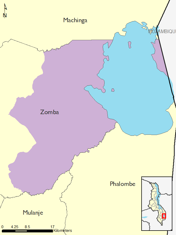 Figure 6.  Reference map for Zomba District