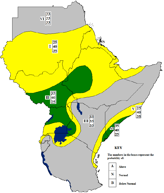 Figure 1. 40th Greater Horn of Africa Climate Outlook Forum (GHACOF) consensus climate outlook for June to September 2015 rainfall, May 26, 2015