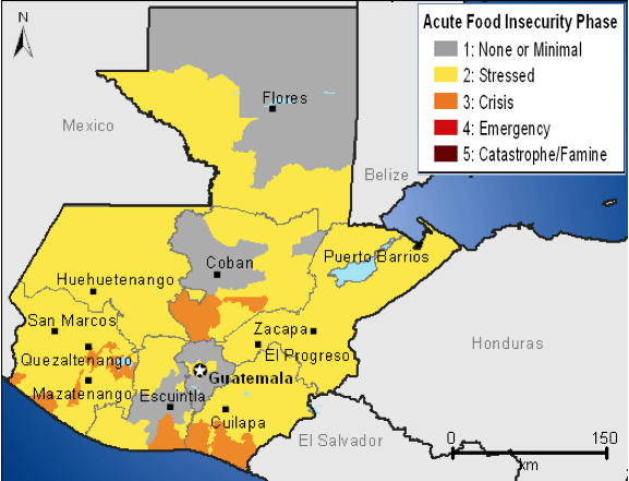 Figure 1. Estimated acute food insecurity outcomes, October 2011