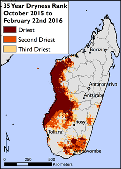 Figure 7. 35 Year Dryness Rank October 2015 to February 22, 2016