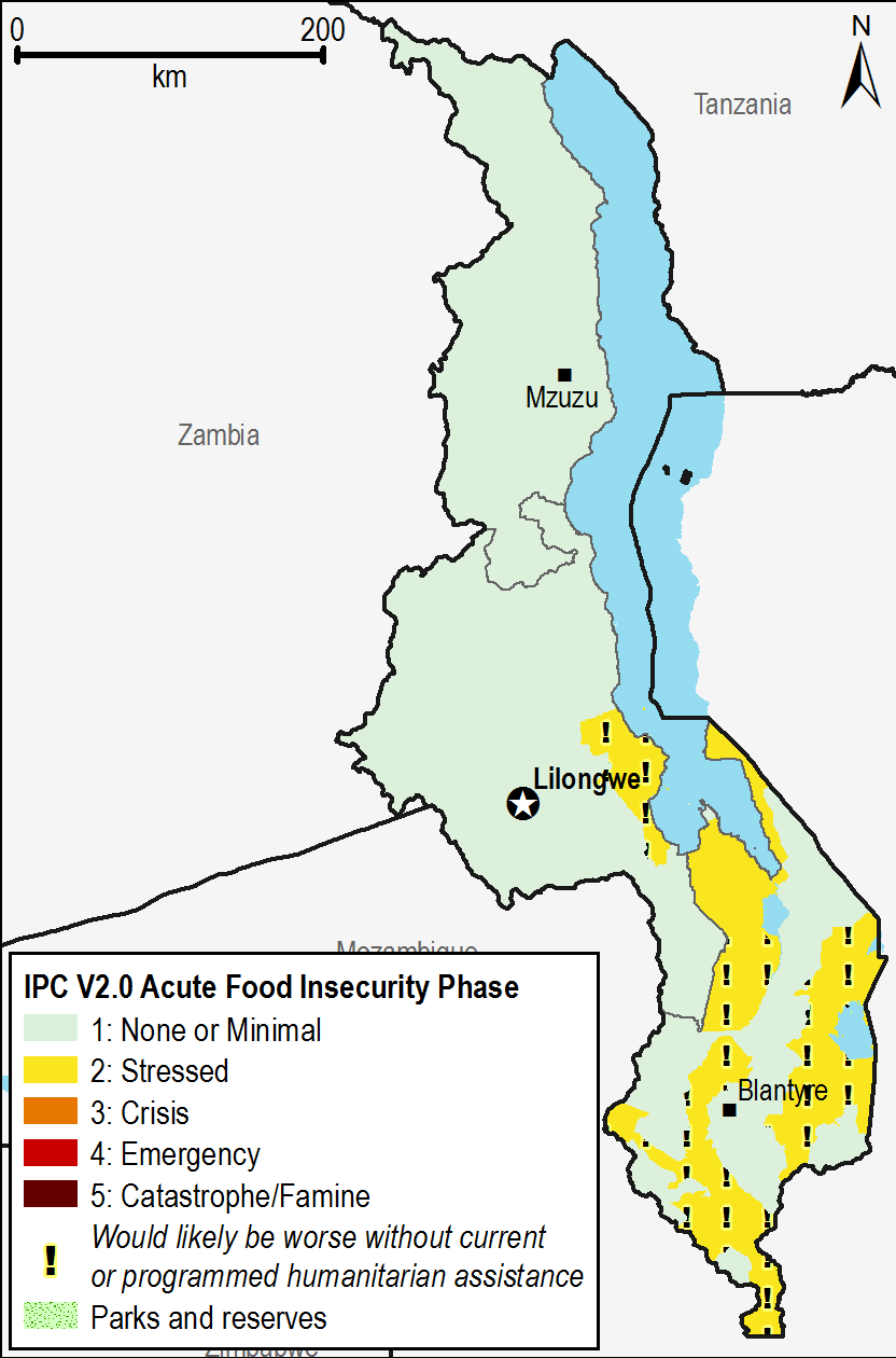 Current acute food security outcomes, April 2015.