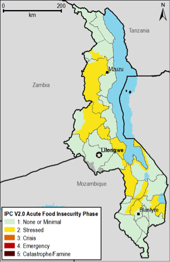 Current food security outcomes, July 2013