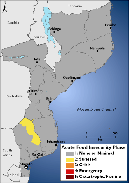 Figure 1. Current estimated food security outcomes, October 2011
