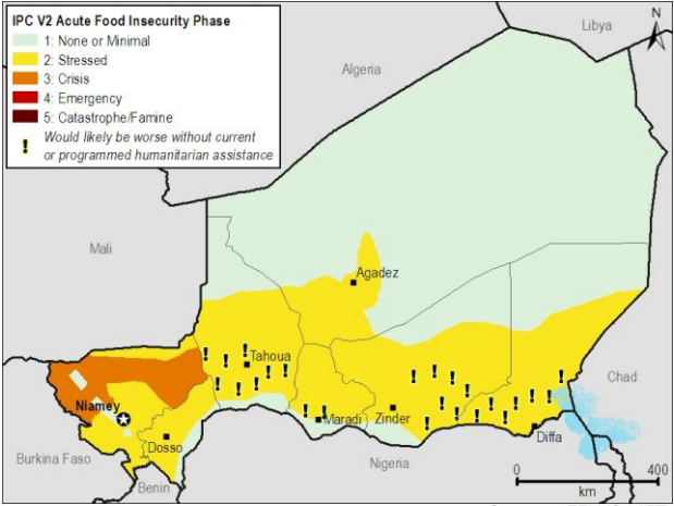 Current estimated food security conditions, July 2012