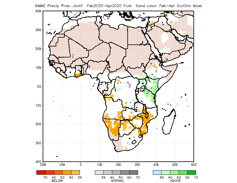 NMME Forecast February to April 2020: Neither above or below average rainfall expected over Nigeria