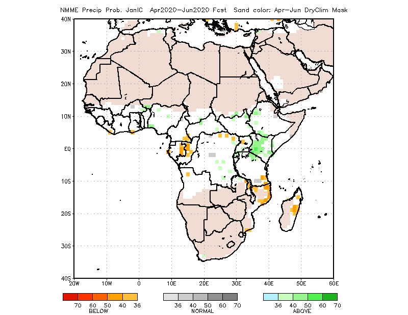 NMME Forecast April to June 2020: Average to above average rainfall over Nigeria