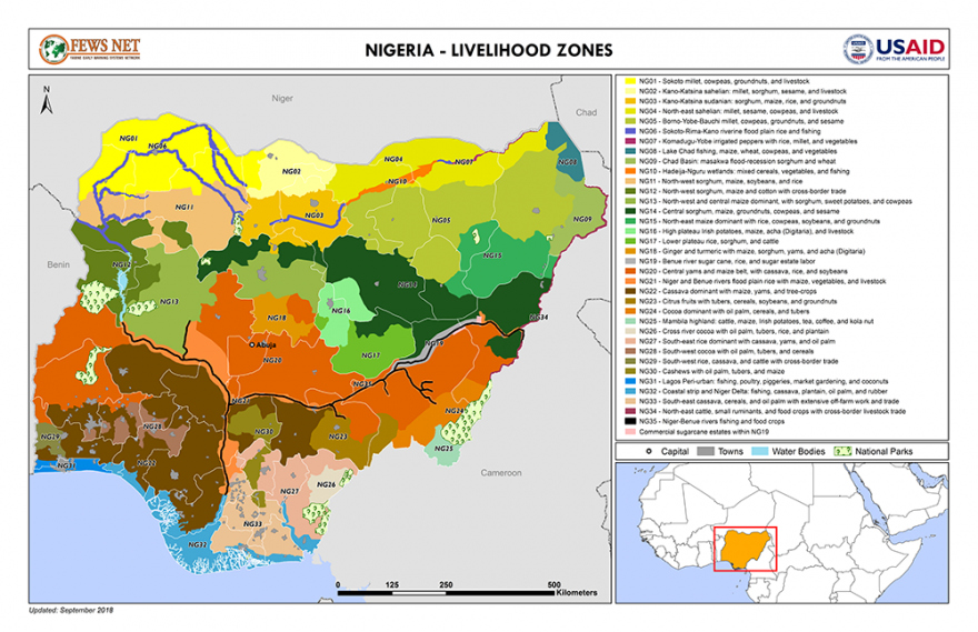 Nigeria Livelihood Zone map