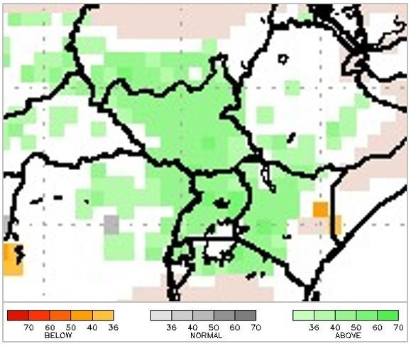 NMME Precipitation Probability, May to July 2019