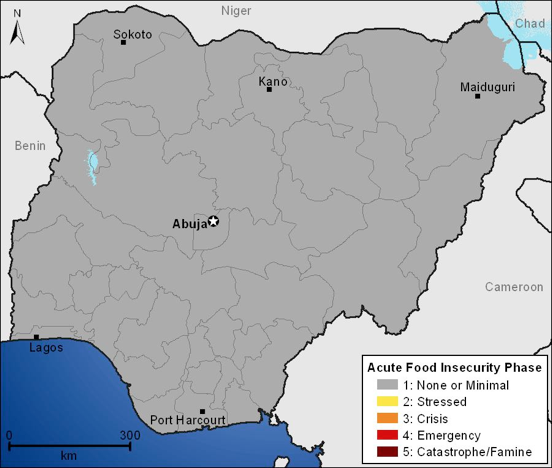 Figure 1. Current estimated food security conditions, October 2011