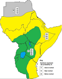 Seasonal rainfall forecast for East Africa, March to May 2013