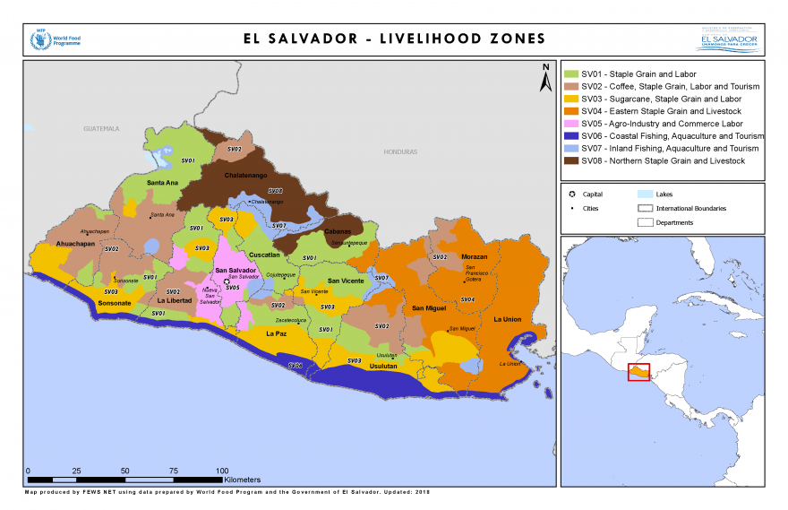 El Salvador LHZ Map