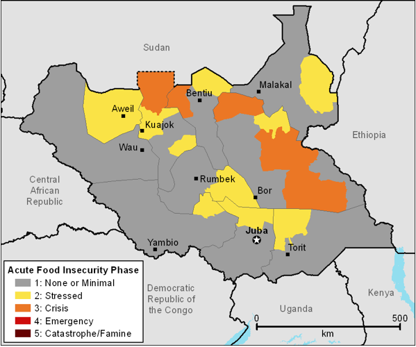 Figure 1. Current estimated food security outcomes, December 2011