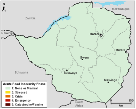 Current estimated food security conditions, April 2012