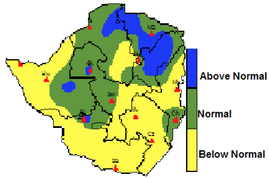 Figure 9. Percentage of normal rainfall from 01-10-11 to 02-11-11