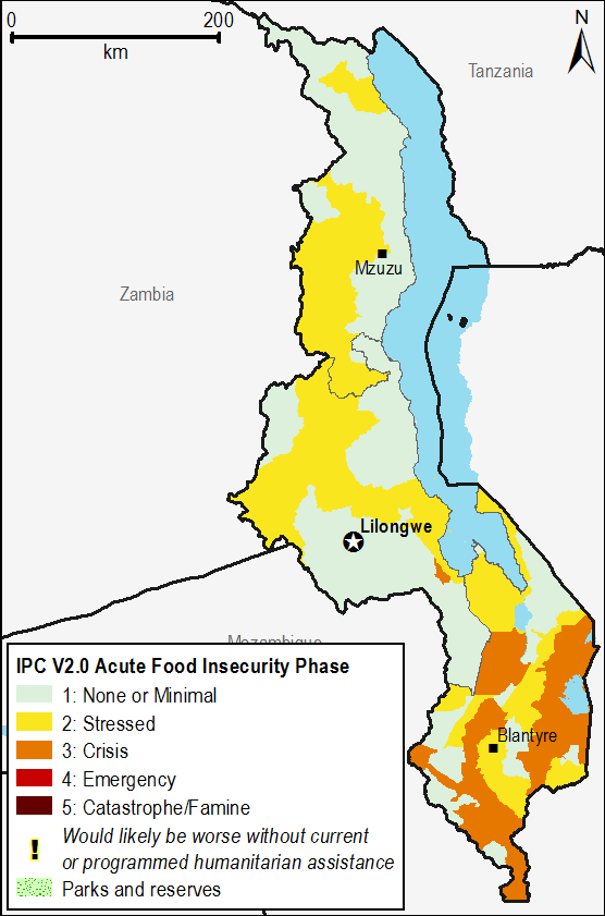 Current acute food security outcomes, October 2015.