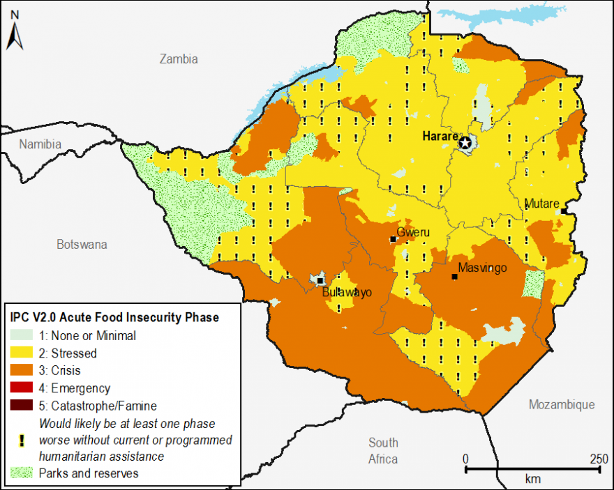 Current acute food security outcomes, February 2016.