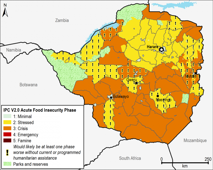 Current acute food security outcomes, February 2017.