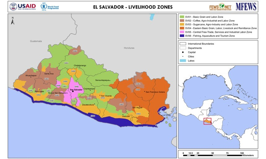 El Salvador Livelihood Zone Map Vie 2010 09 17 Famine Early Warning Systems Network