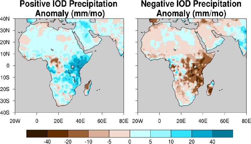 Precipitation impacts of the IOD in December