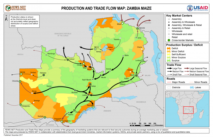 Zambia Trade Flow Map Maize
