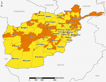 Afghanistan December 2016 Food Security Projections for December to January