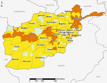Afghanistan January 2017 Food Security Projections for February to May