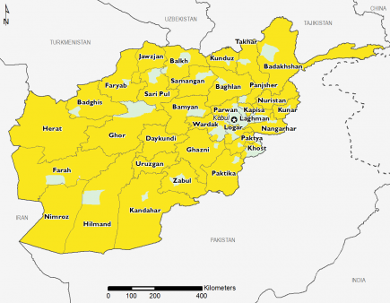 Afghanistan April 2017 Food Security Projections for June to September