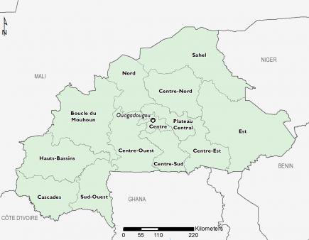 Burkina Faso February 2016 Food Security Projections for June to September