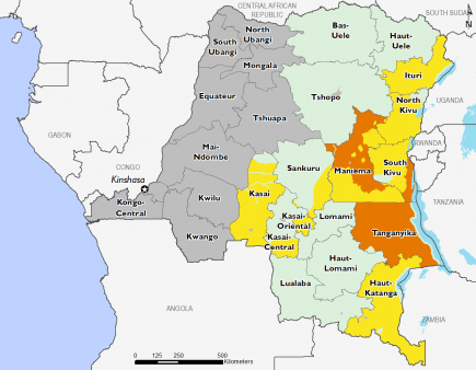 Democratic Republic of Congo March 2017 Food Security Projections for March to May