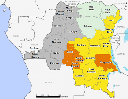Democratic Republic of Congo September 2017 Food Security Projections for October to January