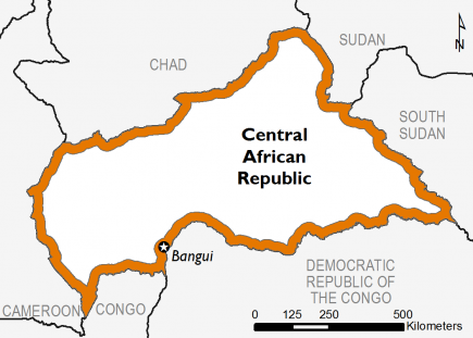 Central African Republic April 2016 Food Security Projections for April to May