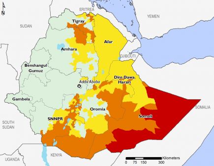 Ethiopia May 2017 Food Security Projections for June to September