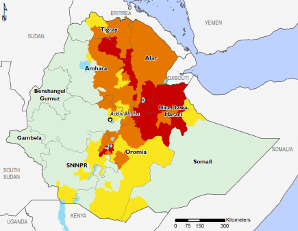 Ethiopia April 2016 Food Security Projections for June to September